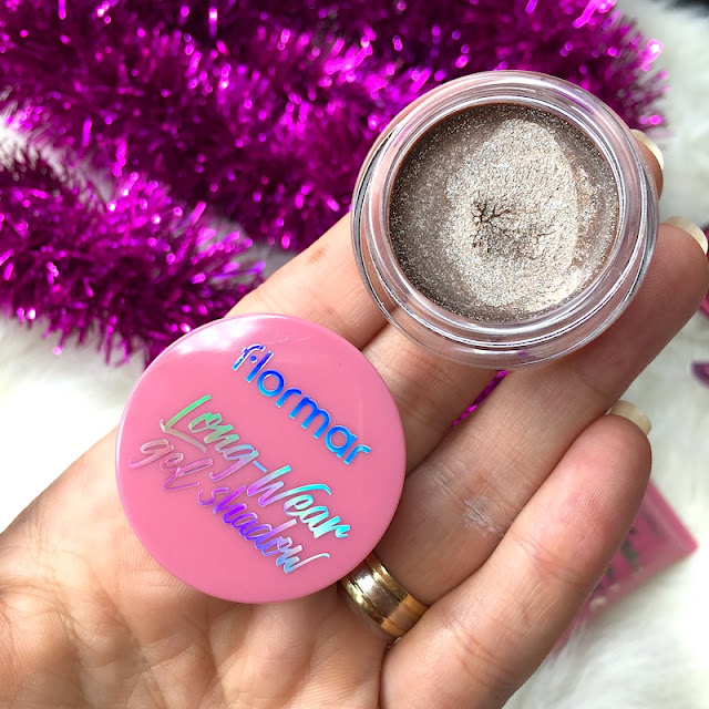 Flormar Long Wear Gel Shadow 02 glitter cocoa lite it up 1