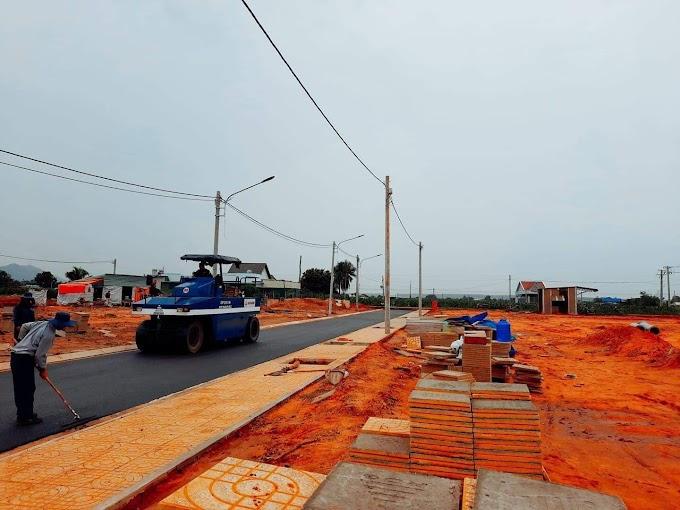 75m2 thổ cư đất mặt tiền đường nhựa gần TT Phan Thiết, bán lỗ 600tr (có sổ hồng riêng)