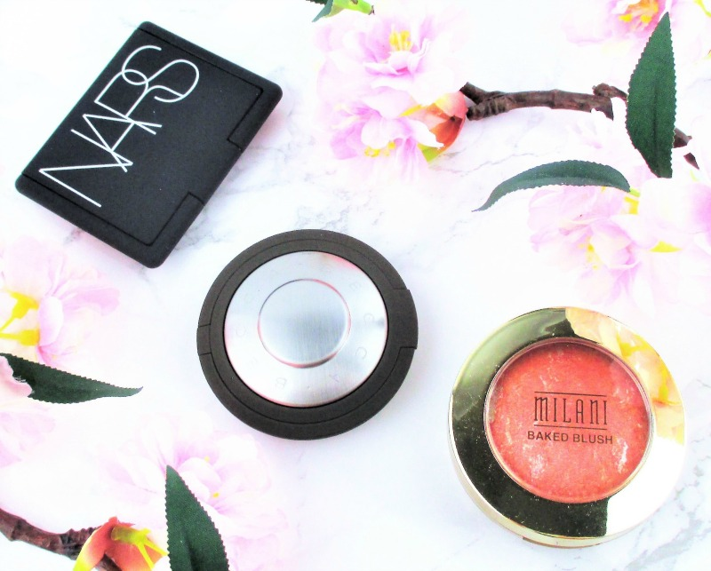 Beautiful coral blushes for spring for fair skin from nars and becca and milani