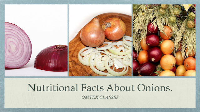 Nutrition Facts about Onions.