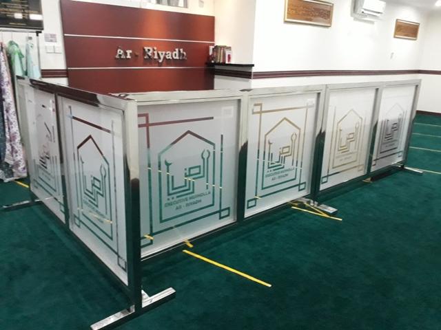 Pembatas masjid - penyekat mushola - pembatas ruangan stainless