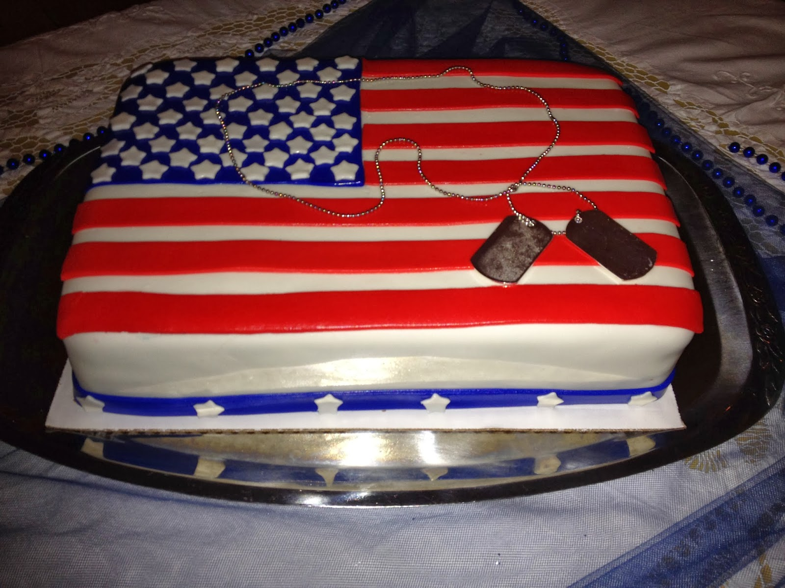 amerikansk flag kage