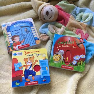 Kinderbuchblog Familienbücherei: Minifanten-Pappbücher aus dem Coppenrathverlag für Kinder ab 1 Jahr