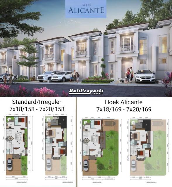 denah rumah new alicante
