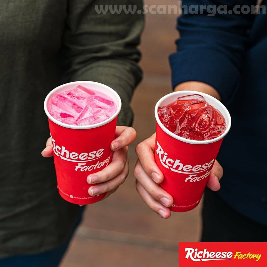 Richeese Factory Pink Lava dan Fruitarian Tea