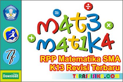 Download RPP Matematika Peminatan Kelas 10 SMA K13 Update 2019