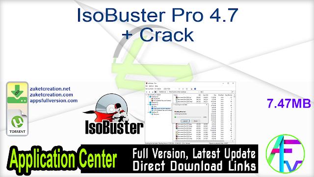 IsoBuster Pro 4.7 + Crack