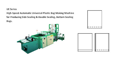 Universal Plastic Bag Making Machine for Producing Side Sealing & Double Sealing, Bottom Sealing Bags.