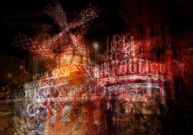 Esposizioni multiple del Moulin Rouge a Parigi. Di Alessio Trerotoli