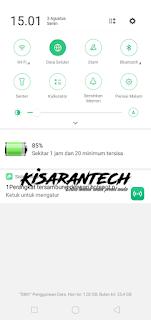 Cara menampilkan persentase baterai oppo