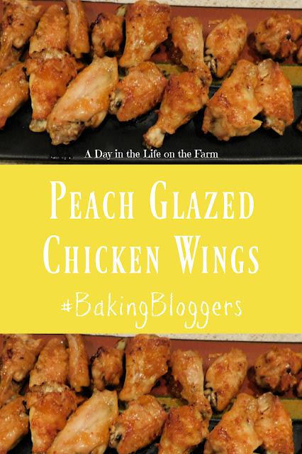 Peach Glazed Chicken Wings pin