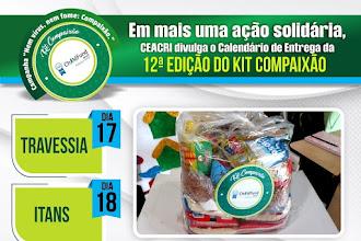 Confira o calendário de entrega da 12ª edição do Kit Compaixão