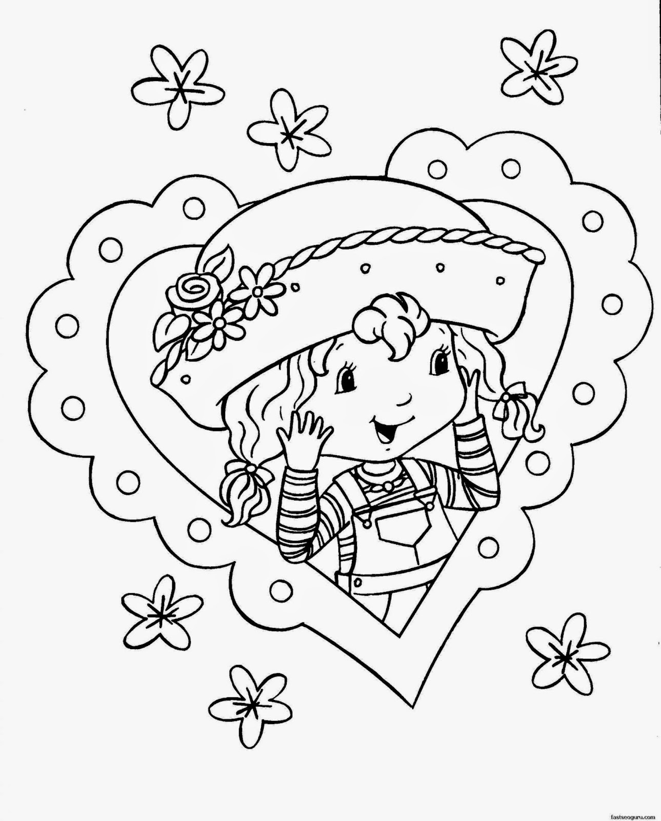 printable coloring pages for girls  Coloringpages4kid