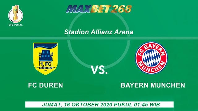 Prediksi Duren FC Vs Bayern Munchen, Jumat 16 Oktober 2020 Pukul 01.45 WIB