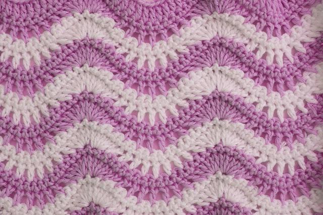 2 - Crochet Puntada ondas combinada a crochet y ganchillo por Majovel Crochet paso a paso