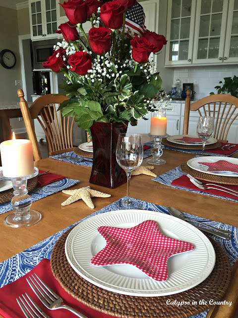 Red, White and Blue Table for 4th of July