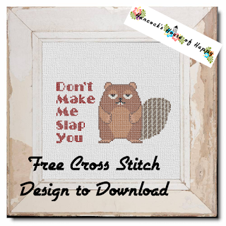 free beaver cross stitch pattern to download