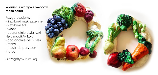 Ciąg dalszy warzywno - owocowych inspiracji: wieniec z masy solnej