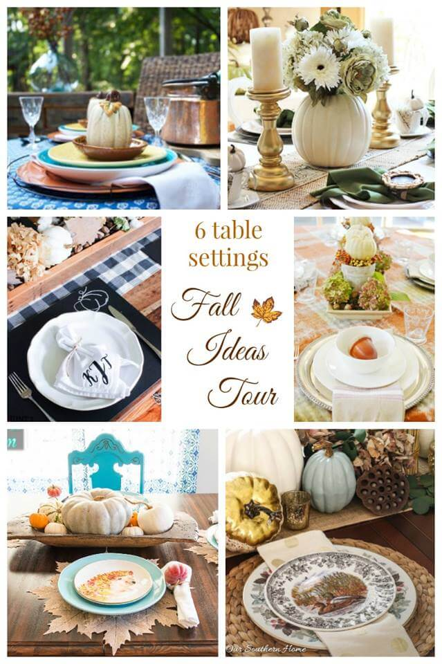 Fall Ideas Tour 2016 Tablescapes