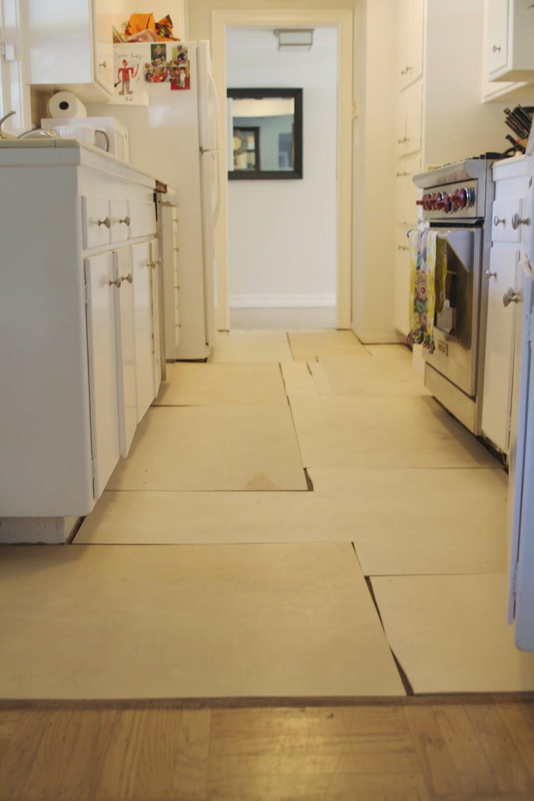 Simply Organized: Simple DIY: Temporary Kitchen Floors