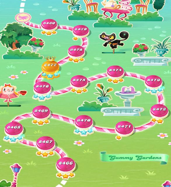 Candy Crush Saga level 8466-8480