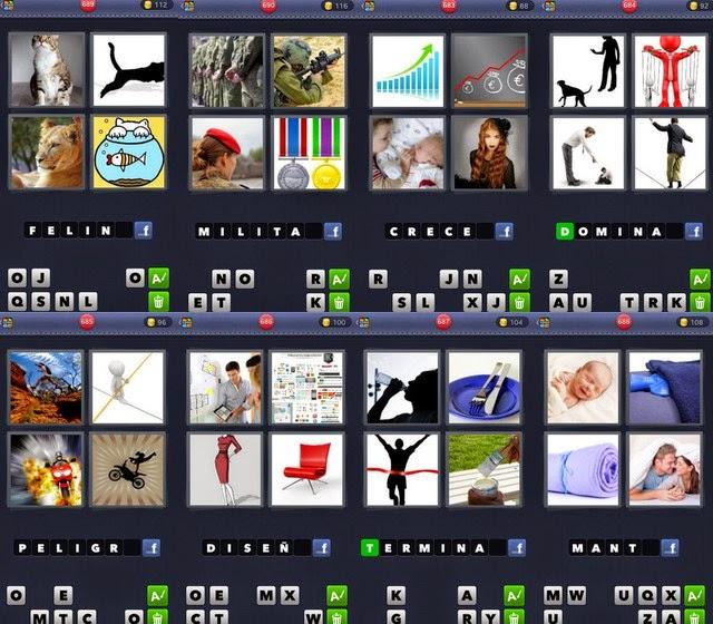 8 palabra una cuatro letras fotos