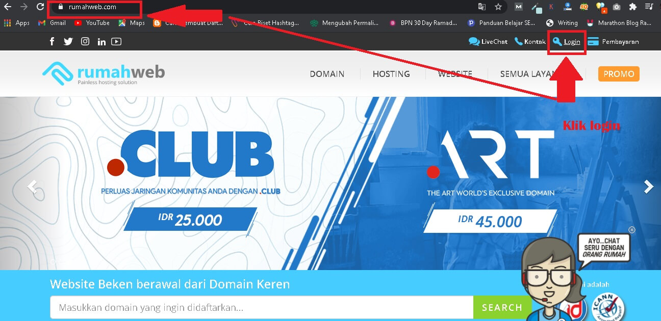 homepage rumahweb