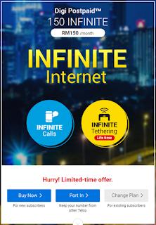 Infiniti Internet Dengan Digi PostPaid!