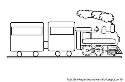 Gambar Kereta Api Sederhana 1