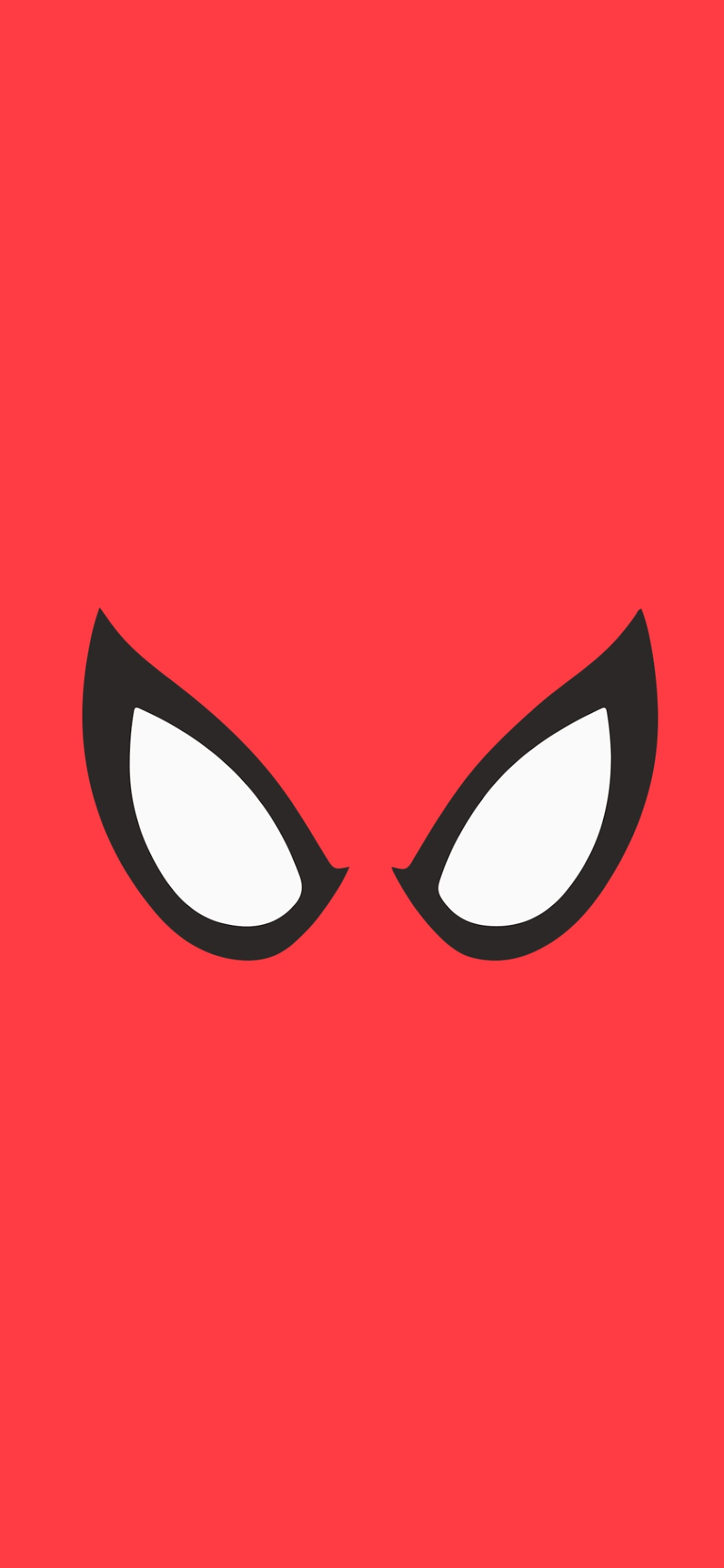 Spider-Man eyes minimal wallpaper
