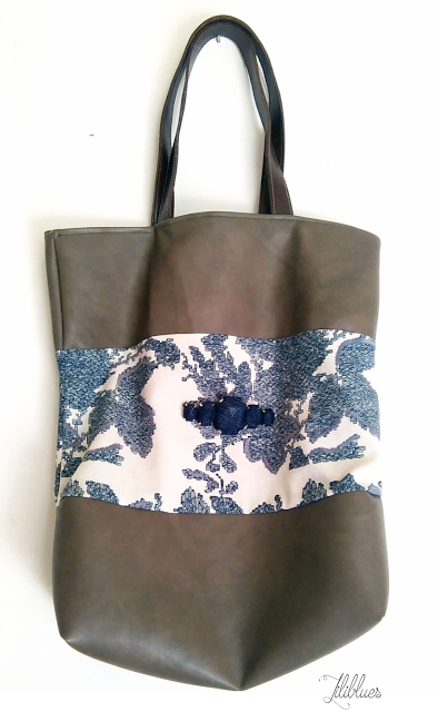 DIY - bag leather - flowers -upcycling - totebag -sac cuir
