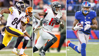 Fantasy Football WR Antonio Brown, Julio Jones, Odell Beckham, Mike Evans