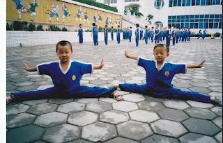 Children Training in Shaolin Kung fu