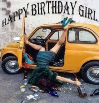 happy birthday funny girl images