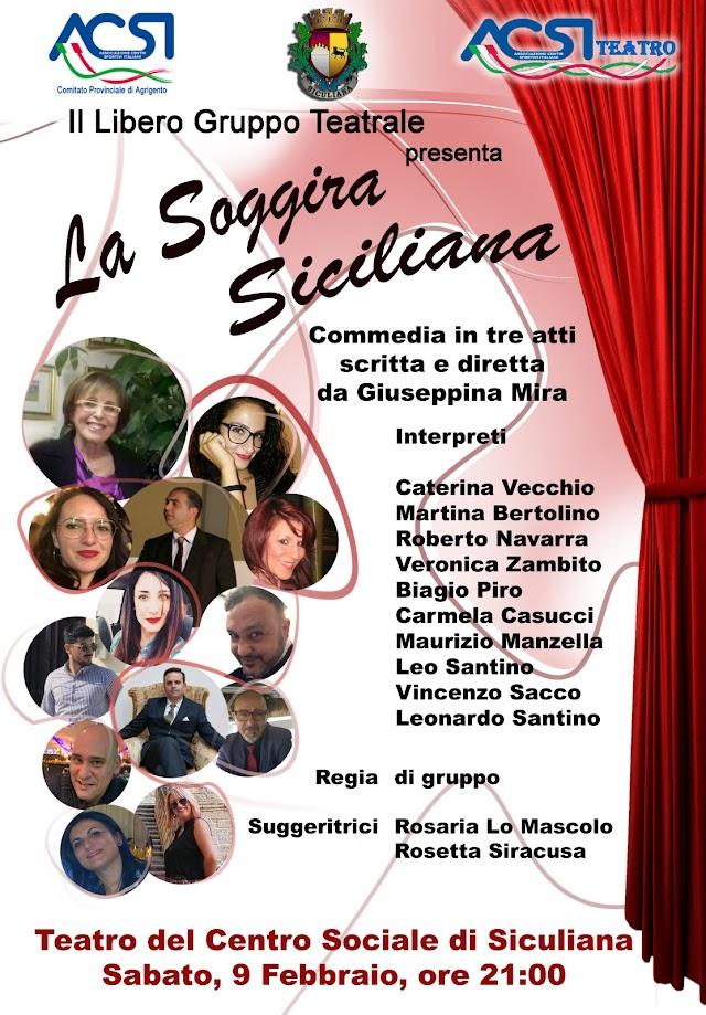 """""""La Soggira Siciliana"""" di Giuseppina Mira in scena sabato 9 febbraio"""