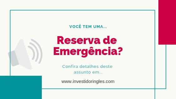 o que é uma reserva de emergência