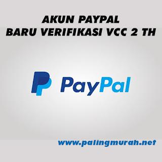 PROMO AKUN PAYPAL BARU VERIF VCC 2 TAHUN SIAP PAKAI