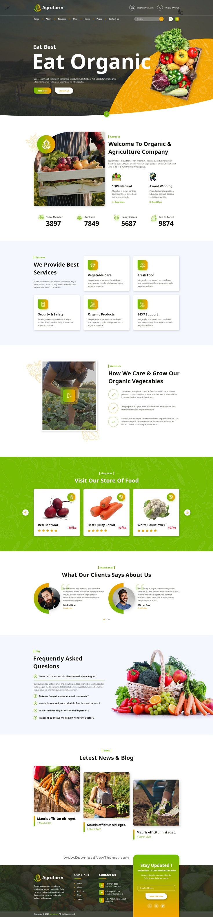 Agriculture & Organic PSD Template