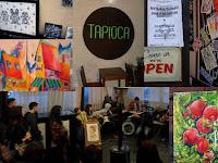 Выставка женской живописи + музыкальный джем-сейшн в кофейне Тапиока, Душанбе, Таджикистан - фото-обзор