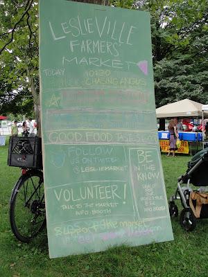 farmers' market sign