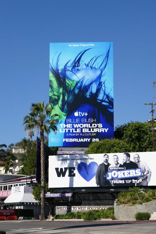 Billie Eilish Worlds a Little Blurry billboard