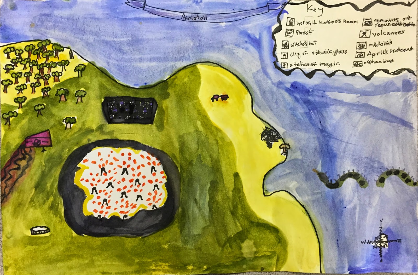 Small Batch Art 3rd Grade Map Making Project