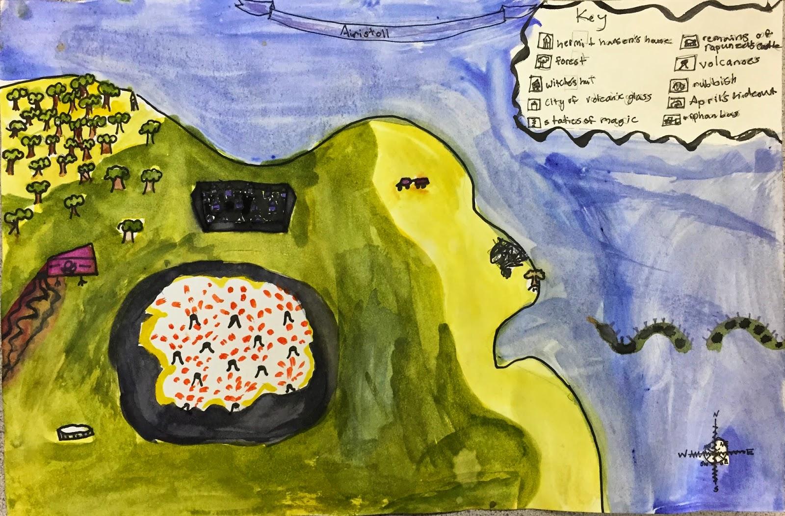Small Batch Art 3rd Grade Map Making Project