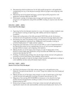 Front End Developer Resume Example