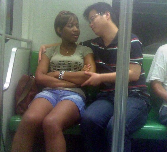 Chinese man with African woman