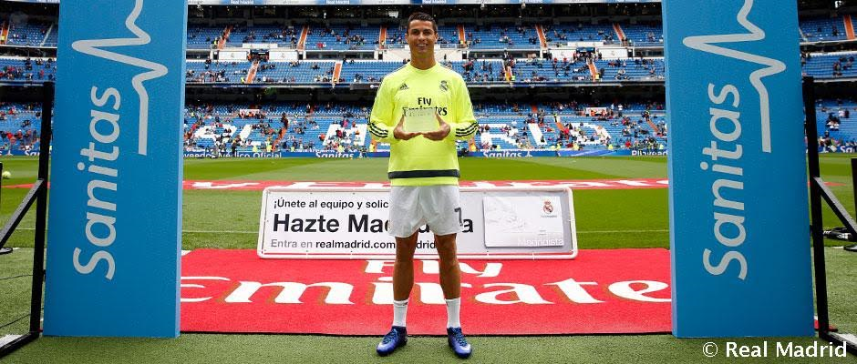 1 Cristiano Ronaldo wins Real Madrid's Healthiest Player of the Year award
