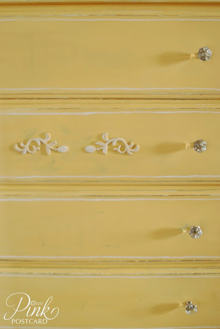 miss mustard seed yellow dresser