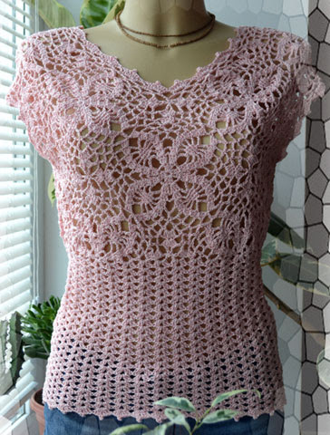 Crochet Free Patterns Blouse : blouse charm with crochet pattern - Crochet Designs Free