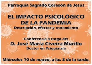 10-III-21. Conferencia sobre el impacto psicológico de la pandemia