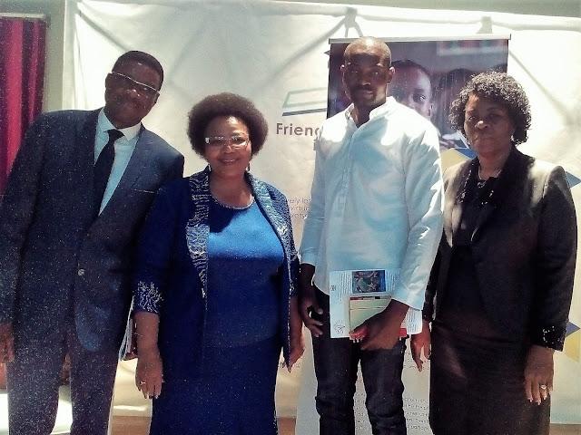 Freddy Nafuka of NPH, Hon. Katrina Hanse-Himarwa (MEAC), Irvin Masule of NPH and Hon. Ester Anna Nghipondoka (Deputy MEAC)